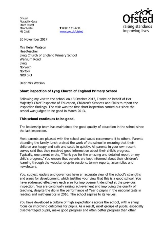 thumbnail of Ofsted report Oct 17