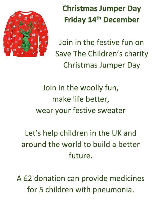 4ffd18204b1 Christmas Jumper Day – Lyng Church of England Primary School
